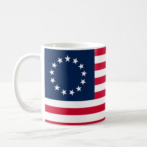 The Revolutionary War Betsy Ross Flag Coffee Mugs