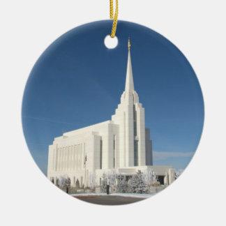 The Rexburg LDS Temple Christmas Ornament