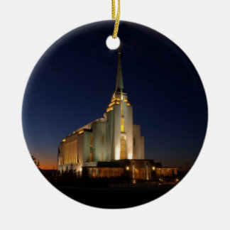 The Rexburg LDS Temple Christmas Ornament