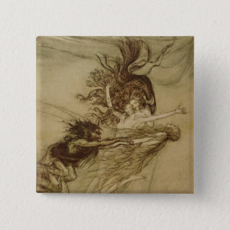 The Rhinemaidens teasing Alberich 15 Cm Square Badge
