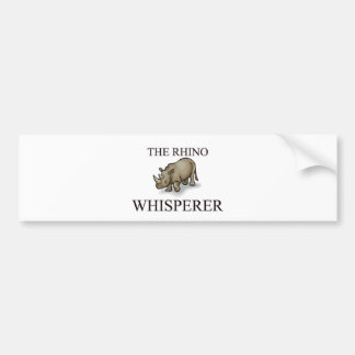 The Rhino Whisperer Bumper Sticker