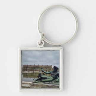 The Rhone, fountain by Jean-Baptiste Tuby Silver-Colored Square Key Ring