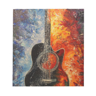 The rhythms of the guitar notepad