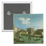 The Rialto Bridge, Venice 15 Cm Square Badge