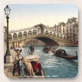 The Rialto Bridge , Venice  Italy 1890's Coaster