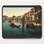 The Rialto Bridge, Venice, Italy classic Photochro