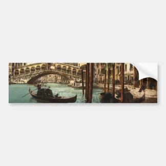 The Rialto Bridge, Venice, Italy classic Photochro Bumper Stickers
