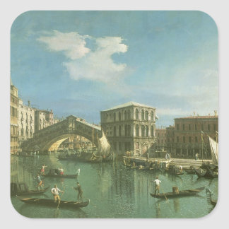 The Rialto Bridge, Venice Square Sticker