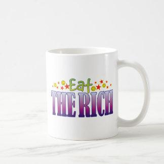 The Rich Eat Basic White Mug