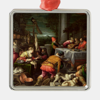 The Rich Man and Lazarus, 1590-95 Christmas Ornament