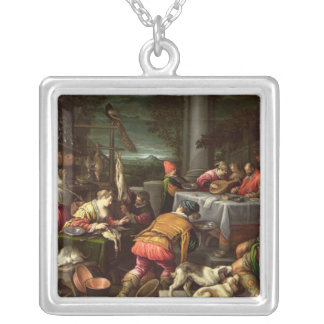 The Rich Man and Lazarus, 1590-95 Silver Plated Necklace