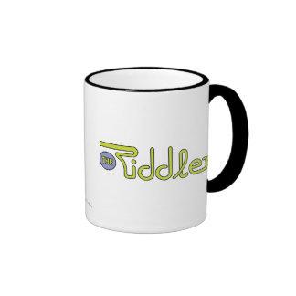 The Riddler Logo Green Ringer Mug