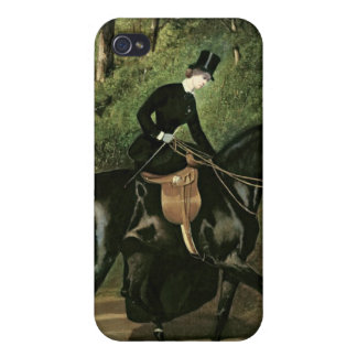 The Rider Kipler on her Black Mare iPhone 4 Case