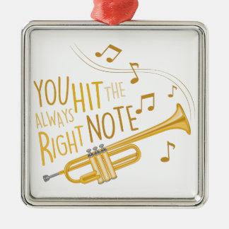 The Right Note Silver-Colored Square Decoration