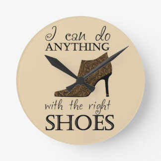 The Right Shoes Round Clock