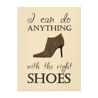 The Right Shoes Stretched Canvas Prints