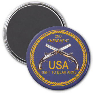 The Right To Bear Arms 3 7.5 Cm Round Magnet