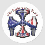 The Right To Bear Arms Round Sticker