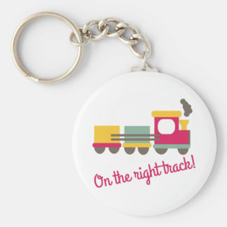 The Right Track Keychains