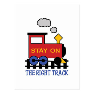 THE RIGHT TRACK POSTCARD