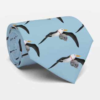 The Rime of the Ancient Mariner Albatross Skull Tie
