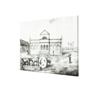 The Rio Exchange, a Public Trapiche Canvas Print