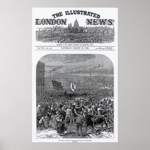 The Riots in Belfast Print