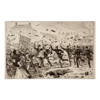 The Riots in Belfast Poster