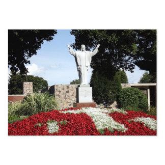 The Risen Jesus Christ statue 13 Cm X 18 Cm Invitation Card