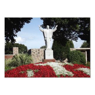 The Risen Jesus Christ statue 9 Cm X 13 Cm Invitation Card