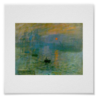The Rising Sun by Claude Monet Poster