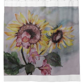 The Rising Sun by Lyn Shower Curtain