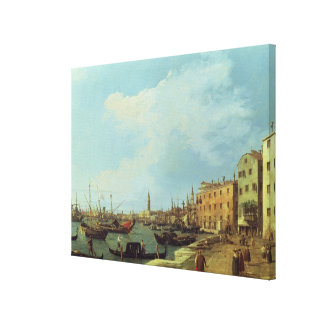 The Riva Degli Schiavoni, 1724-30 Canvas Print