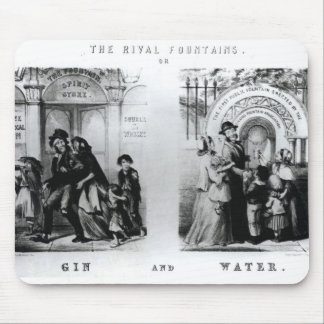 The Rival Fountains or Gin and Water Mouse Mat