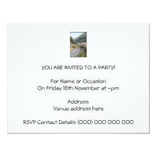 The River and Bridge in Lynmouth, Devon, England. 11 Cm X 14 Cm Invitation Card