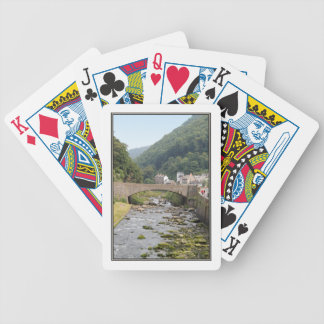 The River and Bridge in Lynmouth, Devon, England. Bicycle Playing Cards