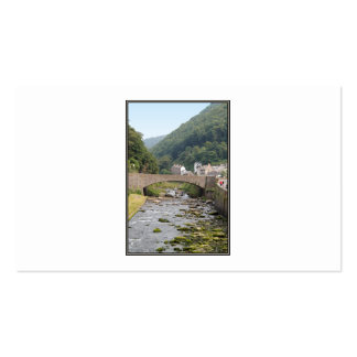 The River and Bridge in Lynmouth Devon England Business Card Template
