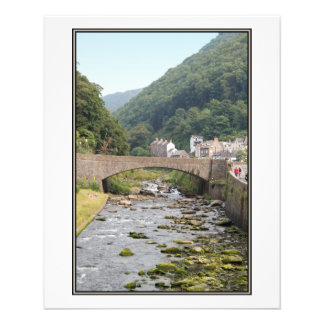 The River and Bridge in Lynmouth Devon England Flyers