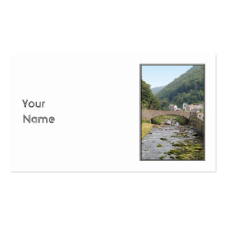 The River and Bridge in Lynmouth, Devon, England. Pack Of Standard Business Cards