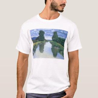 The River at Berville by Felix Vallotton T-Shirt