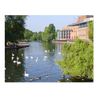 The River Avon at Stratford-upon-Avon Postcard