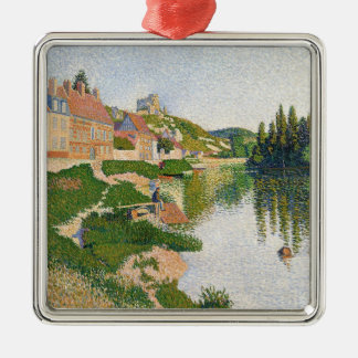 The River Bank, Petit-Andely, 1886 Christmas Ornament