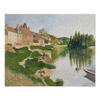 The River Bank, Petit-Andely, 1886 Poster