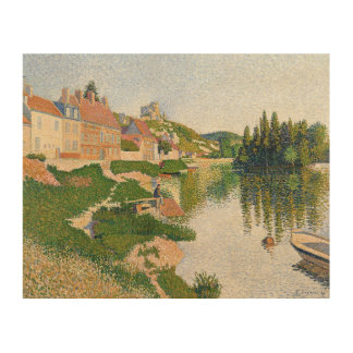 The River Bank, Petit-Andely, 1886 Wood Wall Art