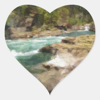The River Bend Heart Sticker