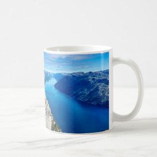 The River Blue Basic White Mug