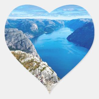 The River Blue Heart Sticker