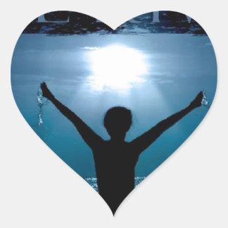 The River Fellowship Heart Sticker