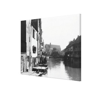 The River Gera at Erfurt, Thiringia, c.1910 Canvas Print