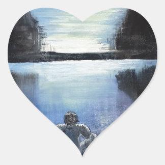 The River Heart Sticker